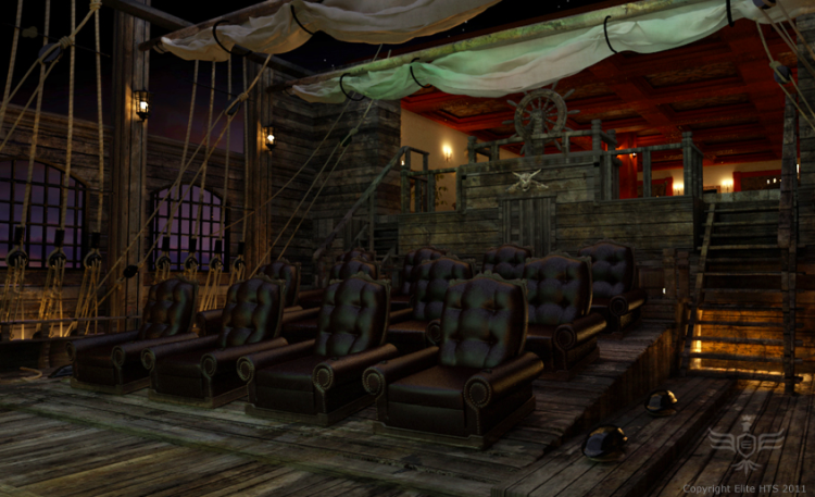 Man Caves Pirate Episode : Of the best home movie theaters cinema vine