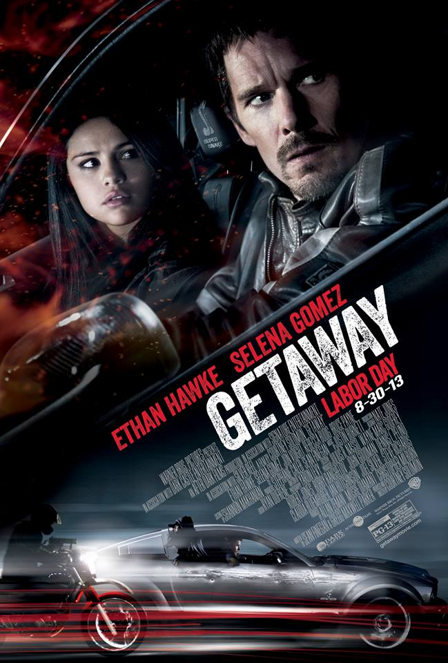 new �getaway� poster featuring selena gomez amp ethan hawke