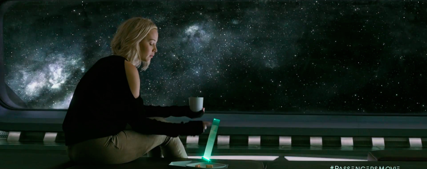 New trailer for passengers starring jennifer lawrence for Passengers spaceship