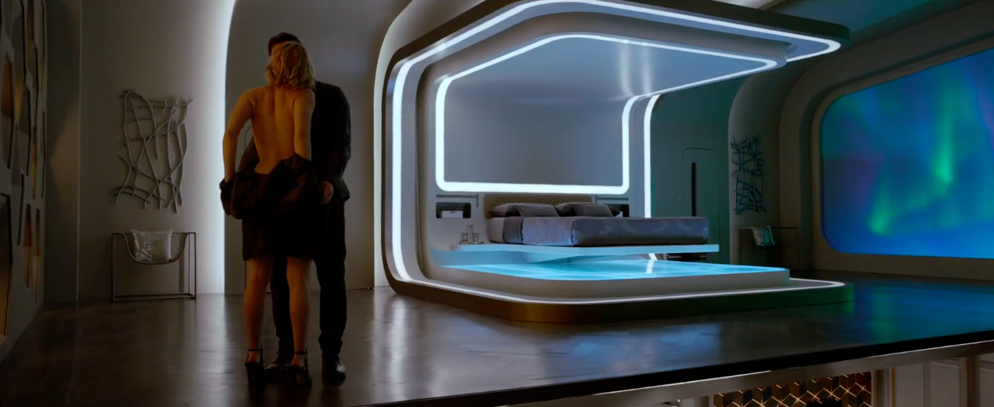 Passengers tv spot jennifer lawrence and chris pratt for Passengers spaceship