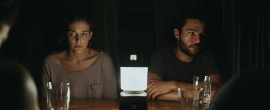Christopher Abbott and Riley Keough in Horror Film It Comes At Night