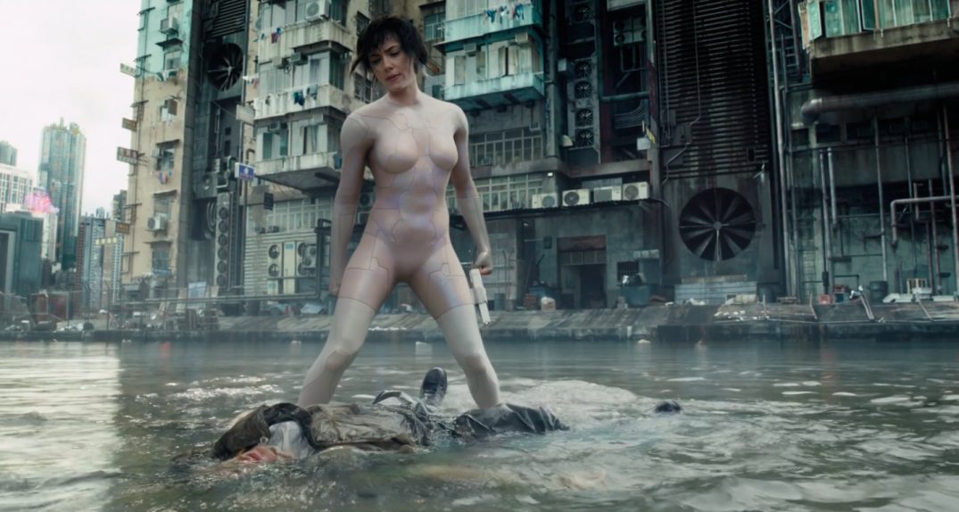 Scarlett Johansson as Major in Ghost in the Shell Movie