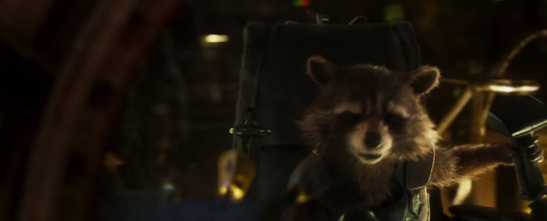 Rocket Raccoon in Guardians of the Galaxy Vol.2