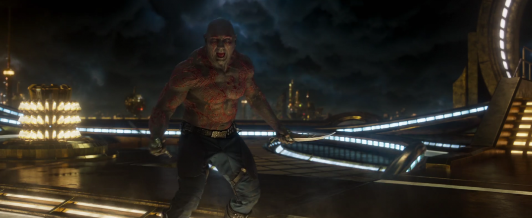 Dave Bautista as Drax in Guardians of the Galaxy Vol.2