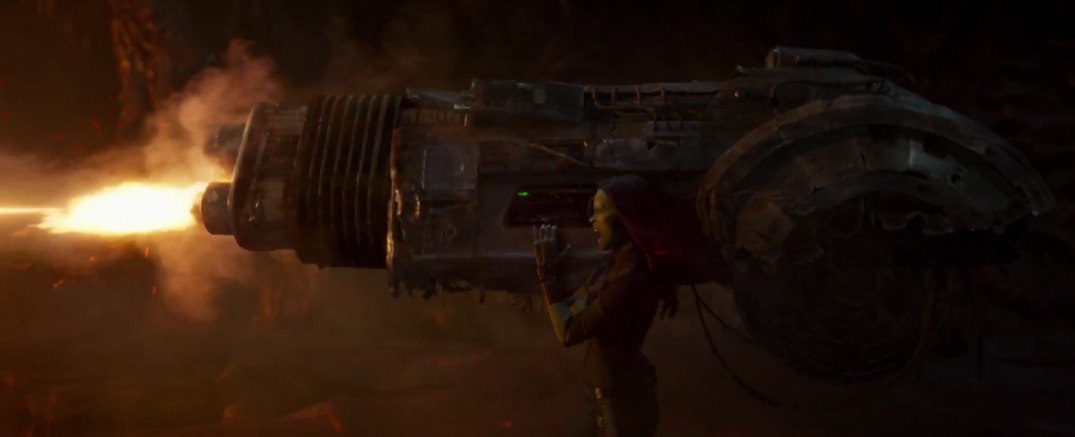 Zoe Saldana as Gamora in Guardians of the Galaxy Vol.2