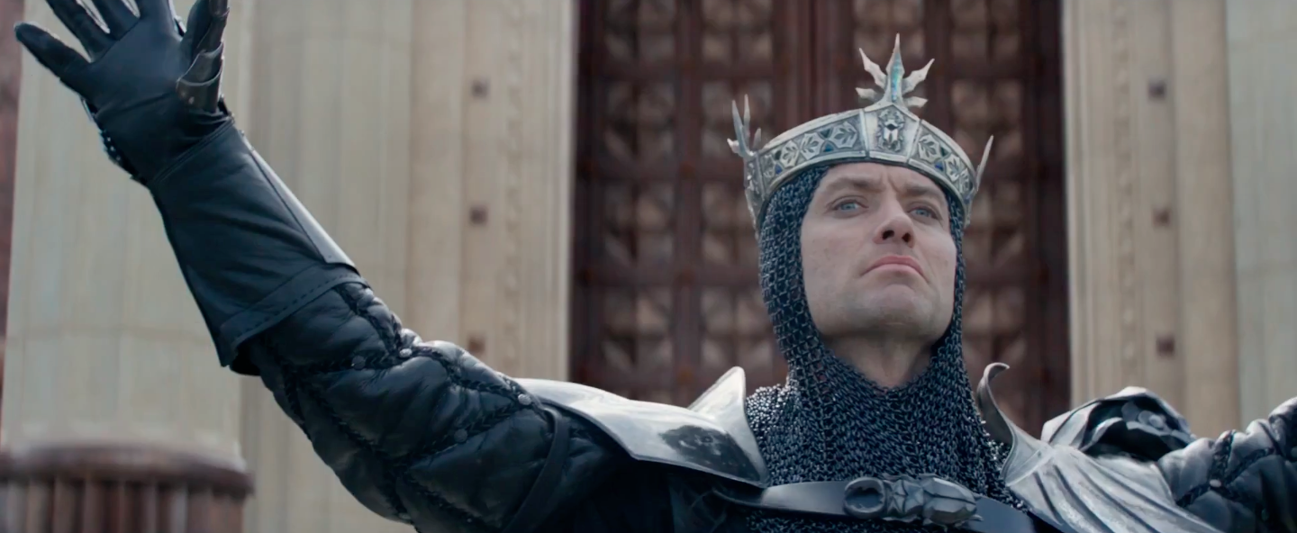 Jude Law as Vortigern in the 2017 Box Office bomb King Arthur: Legend of the Sword.