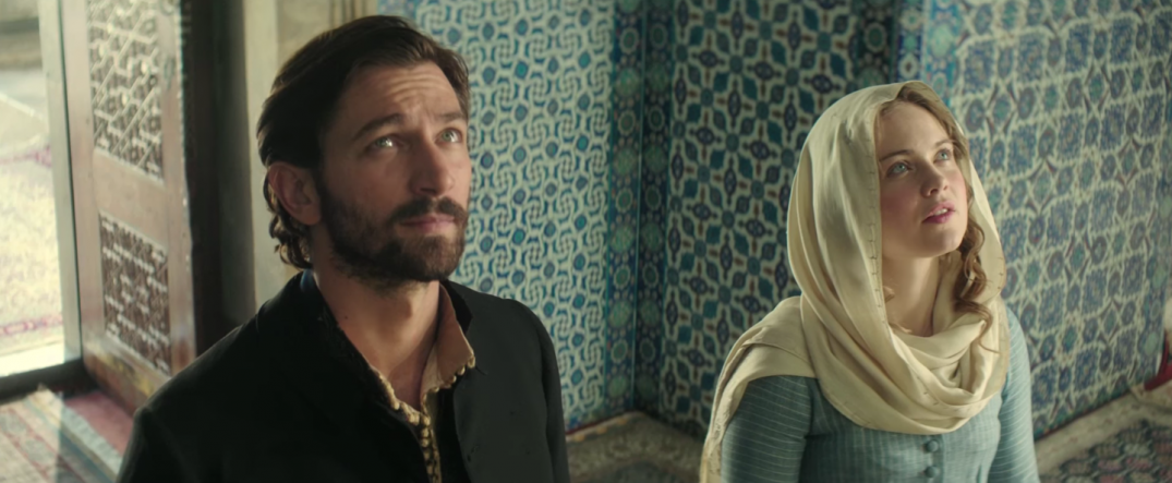 Hera Hilmar and Michiel Huisman in The Ottoman Lieutenant Movie