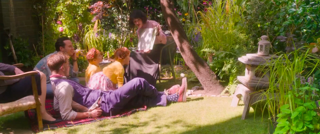 Jessica Brown Findlay, Andrew Scott, and Jeremy Irvine in This Beautiful Fantastic Movie