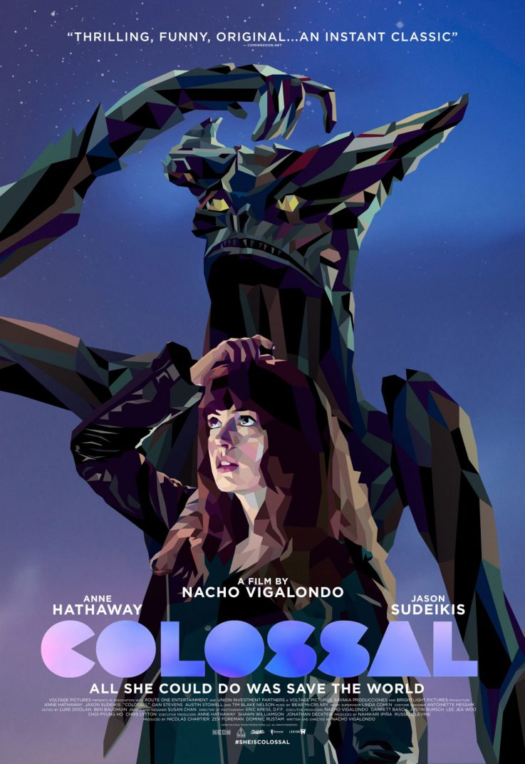 Colossal Movie Poster Anne Hathaway Kaiju