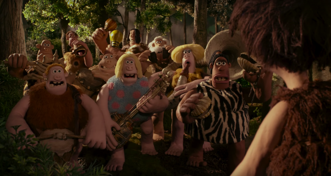 Early Man Stop-Motion Animated Movie Eddie Redmayne Maisie Williams Tom Hiddleston Nick Park