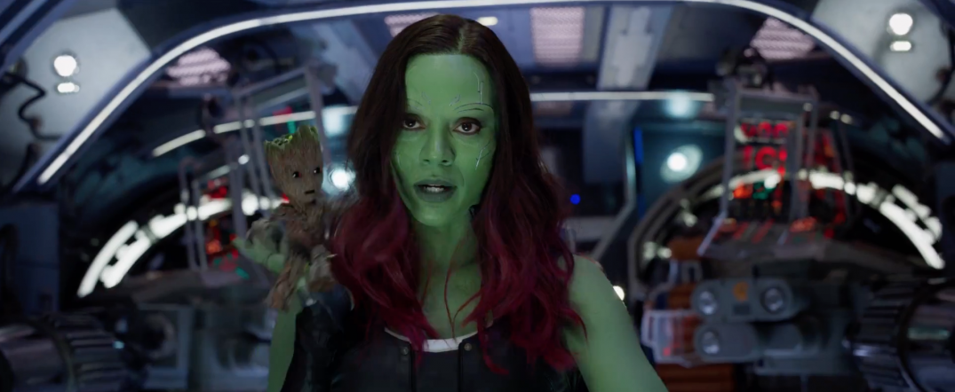 Guardians of the Galaxy Vol 2 Movie Images Gamora Baby Groot
