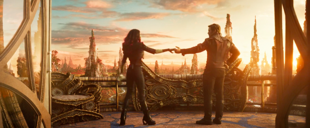 Guardians of the Galaxy Vol. 2 Trailer Screencaps Star Lord Chris Pratt Gamora Zoe Saldana