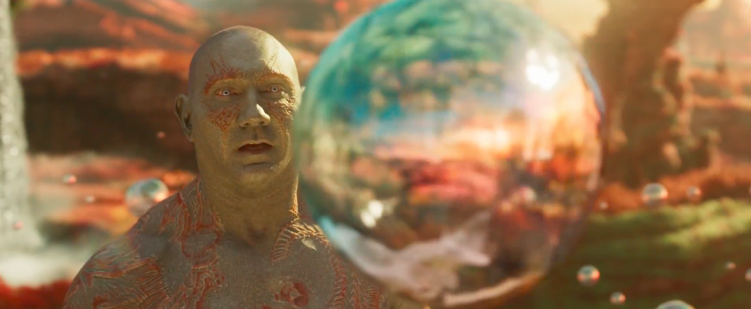 Guardians of the Galaxy Vol. 2 Trailer Screencaps Drax Dave Bautista