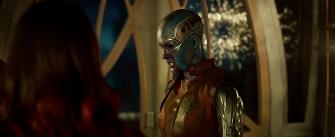 Guardians of the Galaxy Vol. 2 Trailer Screencaps Karen Gillan Nebula