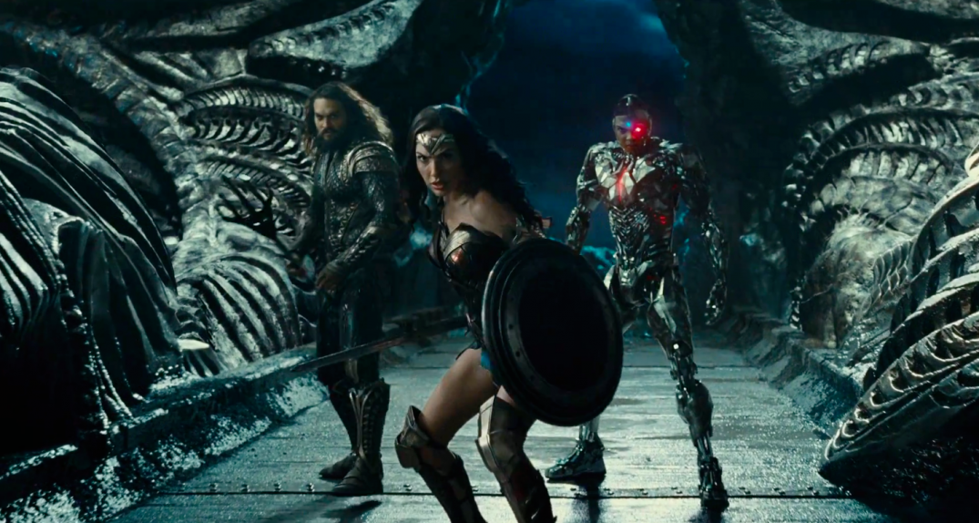 Justice League Movie Trailer Images Screencaps Ray Fisher Cyborg Jason Momoa Aquaman Gal Gadot Wonder Woman