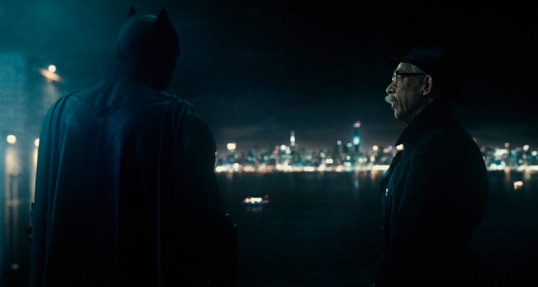 Justice League Movie Trailer Images Screencaps Ben Affleck J.K. Simmons