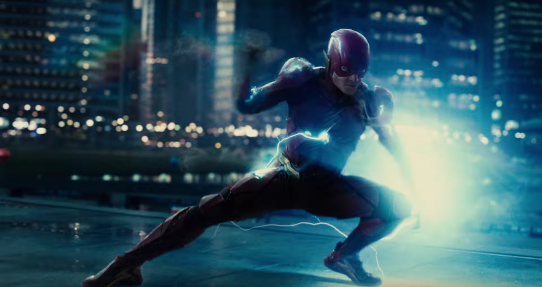 Justice league Movie Trailer Ezra Miller The Flash