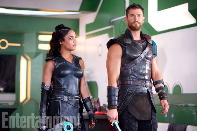 Thor Ragnarok Movie Images Chris Hemsworth Tessa Thompson