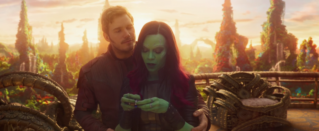 Guardians of the Galaxy Vol 2 Movie Images Gamora Star Lord Dancing Scene
