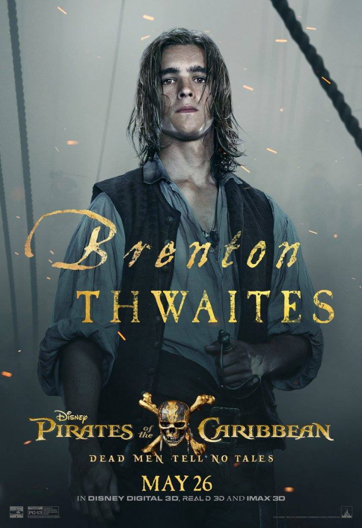Pirates of the Caribbean Dead Men Tell No Tales Move Poster Brenton Thwaites