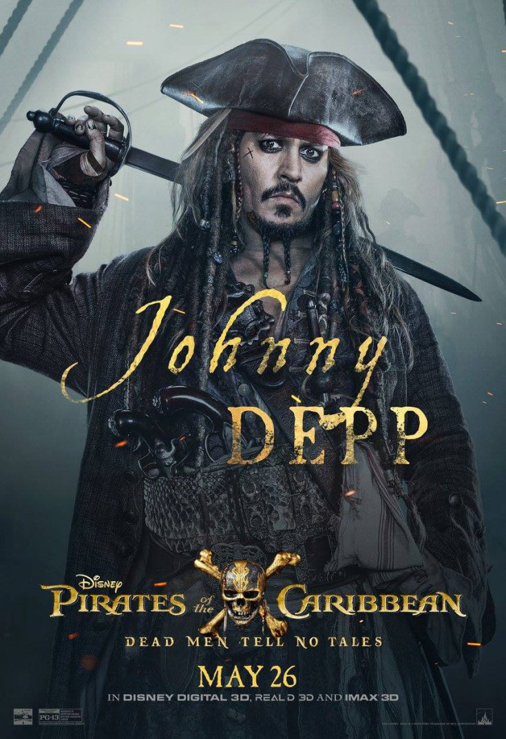 Pirates of the Caribbean Dead Men Tell No Tales Move Poster Johnny Depp