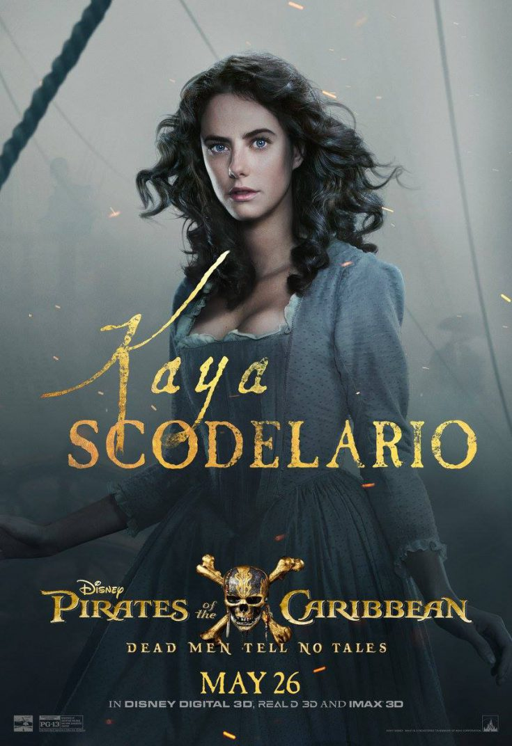 Pirates of the Caribbean Dead Men Tell No Tales Move Poster Kaya Scodelario