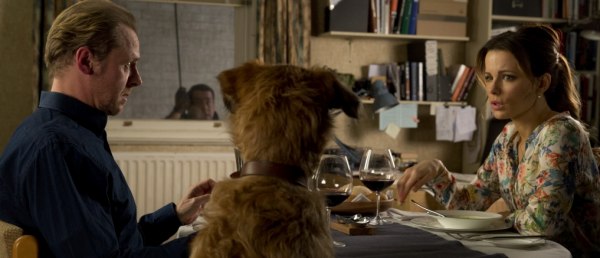 Absolutely Anything Movie Simon Pegg Kate Beckinsale Rob Wriggle Dog