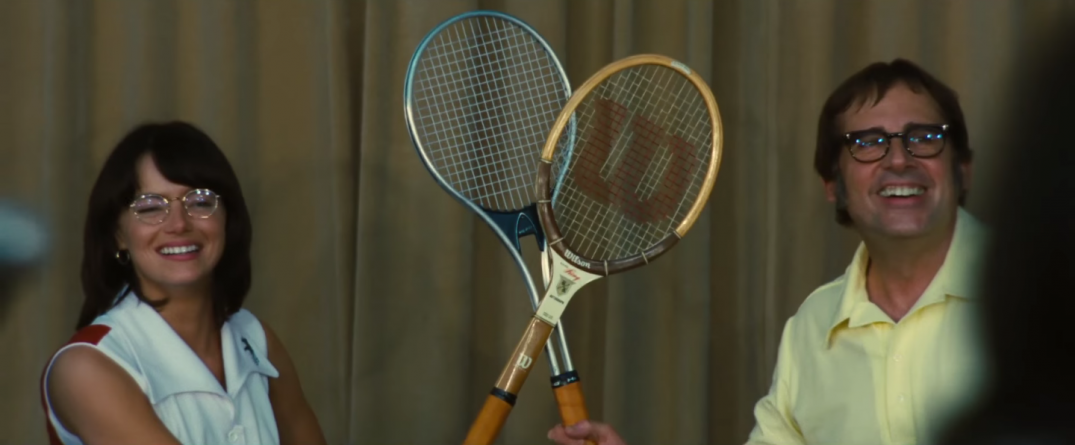 Battle of the Sexes Movie Trailer Images Pics Stills Screencaps Screenshots Steve Carell Bobby Riggs Emma Stone Billie Jean Kings