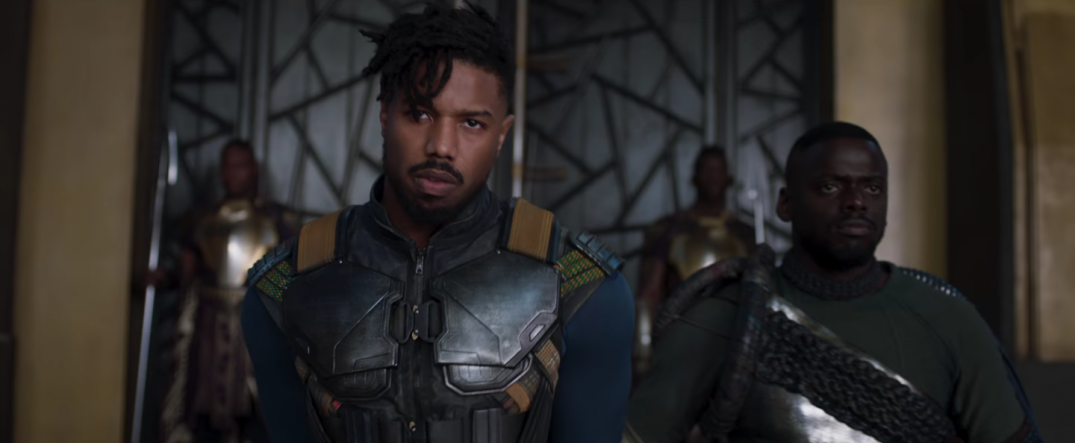 Black Panther Marvel Movie Trailer Images Stills Screencaps Screenshots HD Hi Res Michael B Jordan Erik Killmonger