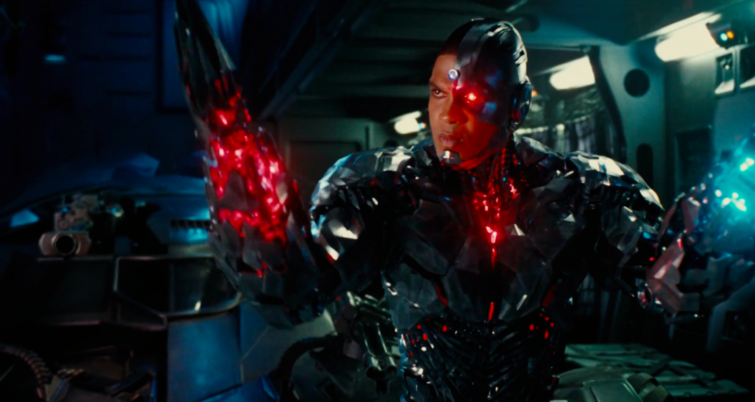 Justice League Movie Trailer Screencaps Screenshots Screengrabs HD Hi Res Images Wonder Woman Ray Fisher Cyborg