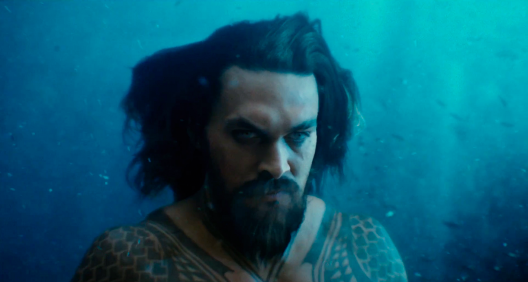 Justice League Movie Trailer Screencaps Screenshots Screengrabs HD Hi Res Images Aquaman Arthur Curry Jason Momoa