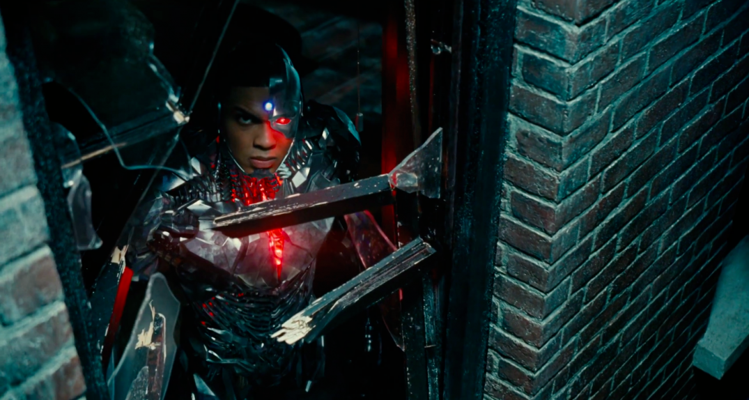 Justice League Movie Trailer Screencaps Screenshots Screengrabs HD Hi Res Images Cyborg Ray Fisher