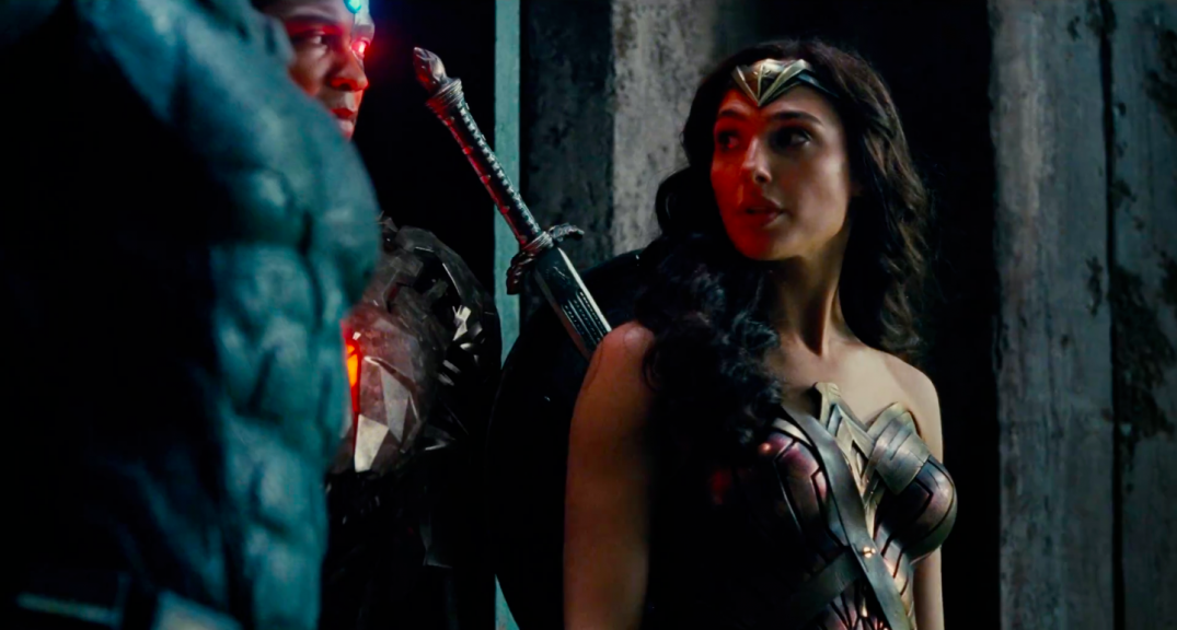 Justice League Movie Trailer Screencaps Screenshots Screengrabs HD Hi Res Images Wonder Woman Gal Gadot Diana Prince
