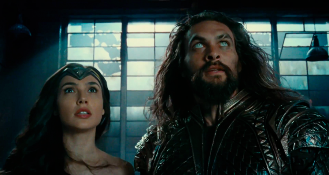Justice League Movie Trailer Screencaps Screenshots Screengrabs HD Hi Res Images Wonder Woman Gal Gadot Diana Prince Aquaman Arthur Curry Jason Momoa