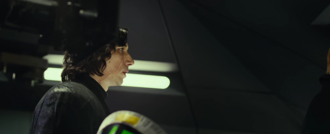 Star Wars The Last Jedi Movie Trailer Stills Behind the Scenes Screecaps Screenshots Adam Driver