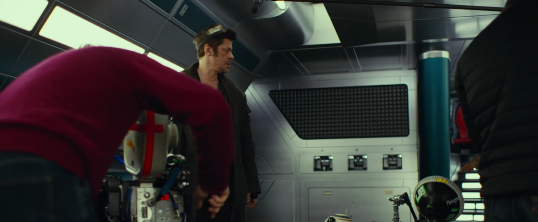 Star Wars The Last Jedi Movie Trailer Stills Behind the Scenes Screecaps Screenshots Benicio Del Toro