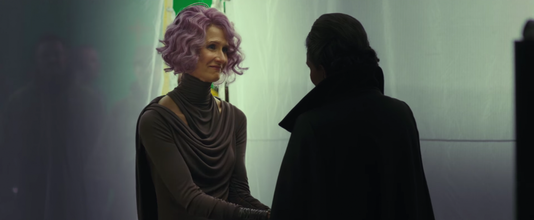Star Wars The Last Jedi Movie Trailer Stills Behind the Scenes Screecaps Screenshots Laura Dern