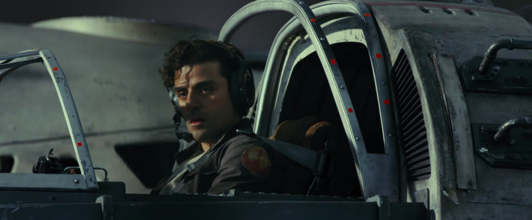 Star Wars The Last Jedi Movie Trailer Stills Behind the Scenes Screecaps Screenshots Poe Dameron Oscar Isaac