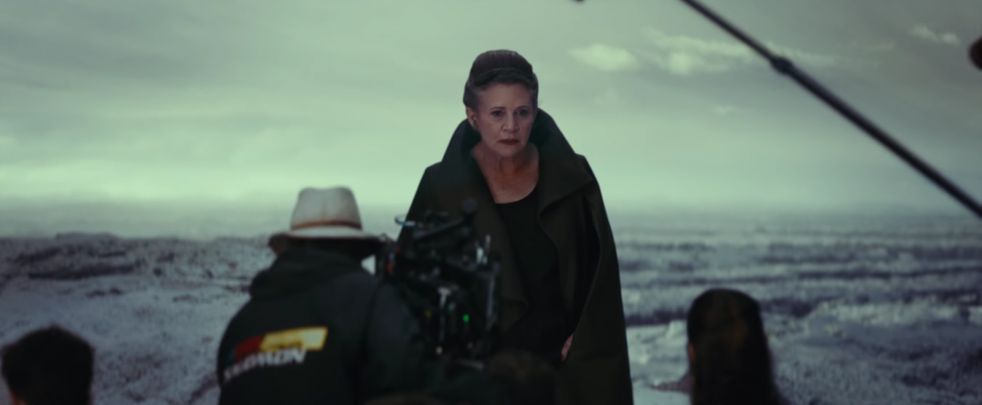 Star Wars The Last Jedi Movie Trailer Stills Behind the Scenes Screecaps Screenshots Carrie
