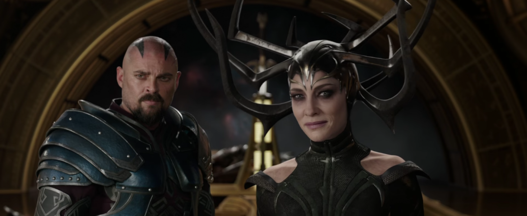 Thor Ragnarok Movie Trailer Screencaps Stills Screenshots Screengrabs Cate Blanchett Hela Karl Urban Skurge