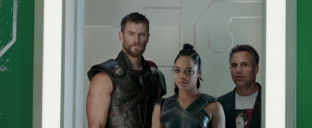 Thor Ragnarok Movie Trailer Screencaps Stills Screenshots Screengrabs Tessa Thompson Valkyrie Chris Hemsworth Thor