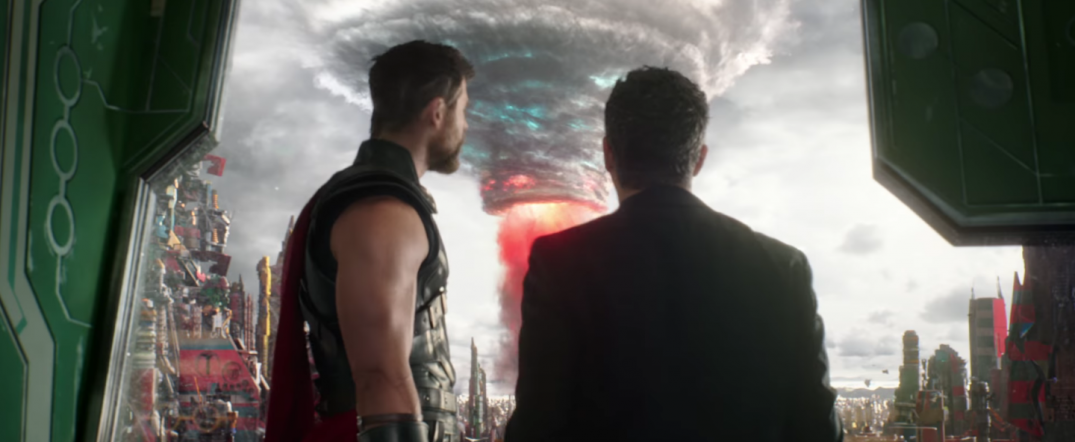 Thor Ragnarok Movie Trailer Screencaps Stills Screenshots Screengrabs Thor Chris Hemsworth Bruce Banner Mark Ruffalo