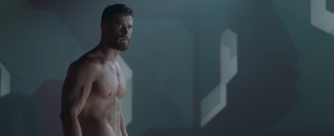 Thor Ragnarok Movie Trailer Screencaps Stills Screenshots Screengrabs Thor Chris Hemsworth Shirtless