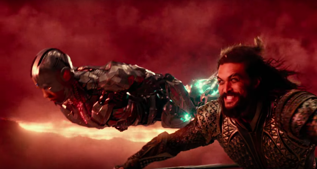 Justice League Movie Trailer Images Pics Stills Screencaps Screenshots Jason Momoa Aquaman Arthur Curry Ray Fisher Cyborg