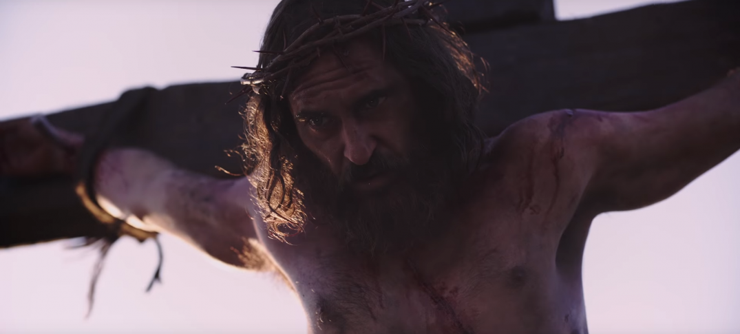 Mary Magdalene Movie Images Trailer Stills Pics Screenshots Joaquin Phoenix as Jesus on a cross